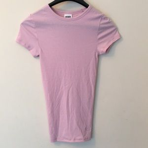 NWOT! Pink Victoria Secret  sleeve fitted tee Xs